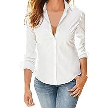cc3150ad7820d Blusa de Mujer BaZhaHei Camisa de Manga Larga para Mujer Formal Oficina  Trabajo Uniforme Señoras Casual
