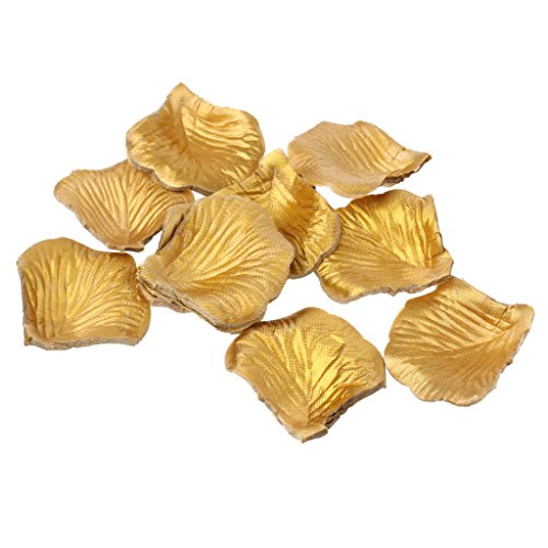 300pcs Rose Petals Decorative Gold Color for Wedding Party