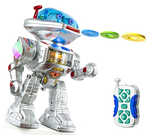 PTL� RC Remote Control Fighting Robot Talking Kids Toy Robot with Sound, Lights, Music, Walking Dancing Shooting RC Robot Toy Top Popular Best Kids Boys Girls Toys - PL9029