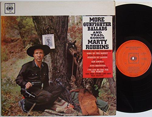 "Marty Robbins More Gunfighter Ballads And Trail Songs 12"" LP CBS BPG 62070"