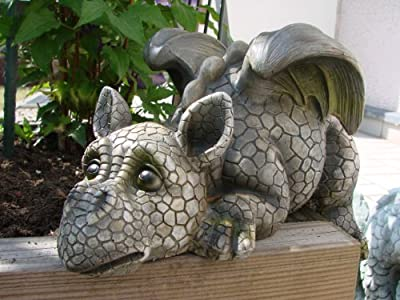 Decorative Garden Dragon Ledge Sitter