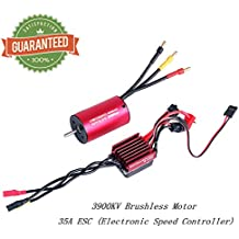 2845 3900KV Brushless Motor Sensorless 3.175mm With 35A ESC Electronic Speed Controller Combo Set Splashproof for 1/12 1/14 1/16 1/18 RC Car Truck Running Off-Road Vehicle by Crazepony-UK