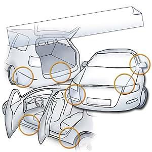 Universal Lackschutzfolie als universelle Steinschlagschutzfolie, Schutzfolie und Autofolie (26x165cm) 150µm transparenter, selbstklebender Lackschutz