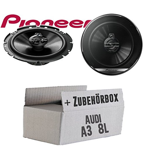Lautsprecher Boxen Pioneer TS-G1730F - 16cm 3-Wege Koax Paar PKW 300WATT Koaxiallautsprecher Auto Einbausatz - Einbauset für Audi A3 8L Heck - JUST SOUND best choice for caraudio