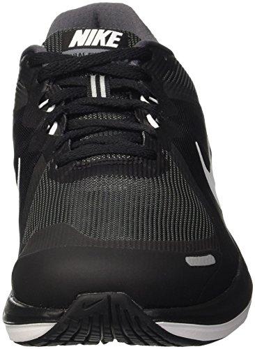 Nike Dual Fusion X 2, Chaussures de Running Compétition Homme Noir (Black/white/dark Grey)