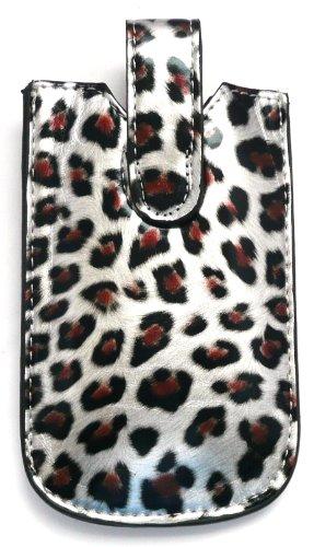 Emartbuy ® Silver Leopard / Case / Sleeve / Holder (Größe Medium) Mit Pull Tab Mechanismus Geeignet Für Huawei G6151