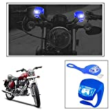 #8: Vheelocityin 2+2 Led Blue Bike Light with Flashing Mode Motorcycle LED For Royal Enfield Bullet Electra Twinspark