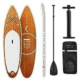 KLAR FIT Klarfit Downwind Cruiser • Planche de Paddle Gonflable • Set Sup-Board • 3,05m • Blanc