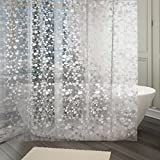 #7: Kuber Industries™ 0.20mm PVC Shower Transparent Curtain in Coin 3D Design (Width-54 Inches X Height-84 Inches) 7 Feet (C0825)