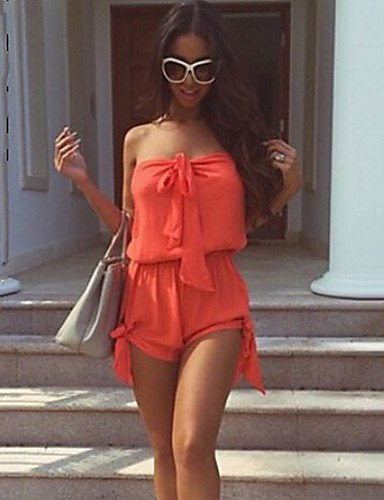 GSP-JUMPSUIT ( Polyester ) Shorts - Fin - Non Elastique à Sans Manches orange-s