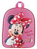 3D Kindergarten Rucksack ca. 31 cm Kinder Tasche Kinderrucksack (Minnie Maus)