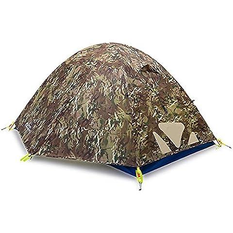 Litera doble 3-4 acampar al aire libre tienda de campaña Polo ( Color : Camuflaje )