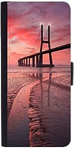 Snoogg Sunset Bridge Designer Protective Phone Flip Case Cover For Phicomm Energy 653 4G