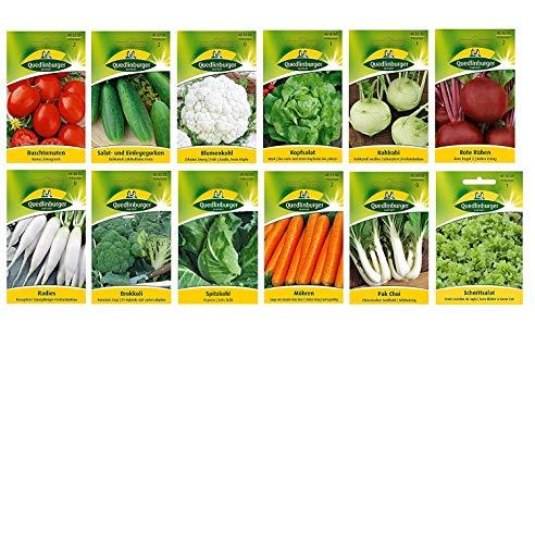12 Sorten | Gemüsesamen Sortiment | für Anfänger geeignet | robuste Mischung