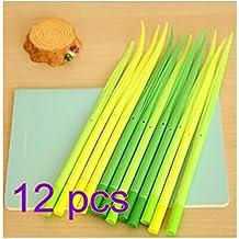 zhoke Cute Novelty hierba flor Diseño bolígrafos de gel para niños escuela profesor Teens oficina color al azar