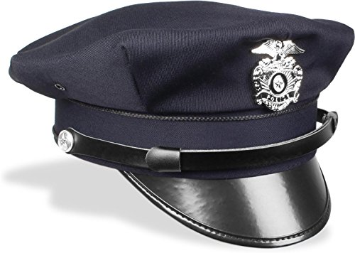 US Polizeimütze Police mit Abzeichen Größe L