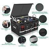 Oasser Kofferraumtasche AutoKofferraum mit Deckel Auto Faltbox Auto Kofferraum mit Klett Organizer Auto Aufbewahrungsbox Taschen Praktisch und Wasserdicht Verpackung MEHRWEG