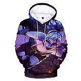 Men And Women 3d Digital printing Jacket With Hat Unisex Long sleeve Full Print Plus Velvet Leisure Big Pocket Pullover Hooded Sweater Sweatshirt,A,XL