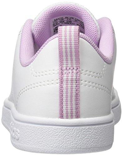 adidas Vs Advantage Clean K, Scarpe da Ginnastica Unisex – Bambini Bianco ( Ftwbla/Ftwbla/Orqcla)