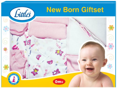 Little's New born Giftset (Pink and white)
