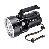 Nitenumen RT6 6 x Cree XM-L L2 LED 4800 Lumens Ultra-longue Portée Lumières Portables Etanche Eblouissement 500m distance à Distance Portable Waterproof Lampe de Poche
