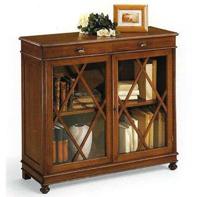 Bücherregal Holz Antik cm 110x40, h 100 - Italienischer Produktion