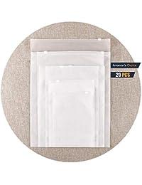 Bolsa de plástico con Doble Cara Bolsa de Cremallera Impermeable Transparente Bolsa de Ropa
