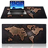 Alfombrilla raton ,World Map Alfombrilla de rat¨®n Gaming XXL 900x400mm Desk Mat ,Naturaleza Base antideslizante de goma