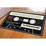 Coloranimal, zerbino, tappeto per ingresso, motivo cassetta musicale moderno Cassette-1