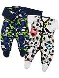 Klekle Baby Jungen Schlafanzüge (2er Pack) Dino Navy Ball Weiß 22824 Größe 80