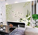 Flower by Window 3D Room Natura Foto Carta da parati in rilievo 3D Personalizzato per soggiorno Carta da parati Rivestimenti per bambini Baby-Room Rotoli murali, 300 * 210 cm