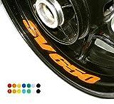 4 X Felgen Motorrad Bike Aufkleber Sticker Decal SUZUKI SV 650 für Vorder und Hinterrad Innenrand Aufkleber Sticker Felgen Set Tuning