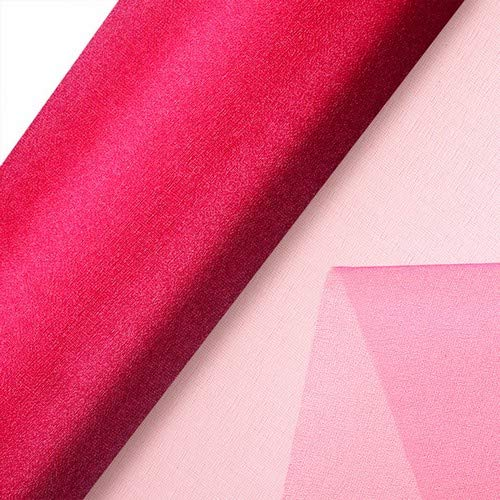 Club Green Organza Snow Sheer, Fuchsia, 85 cm x 10 m - Sheer Fuchsia