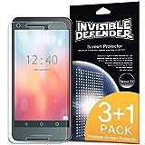 Protecteur d'écran Nexus 5X 2015 - Invisible Defender [3 Avant + 1 Gratuit / MAX HD CLARITY] Garantie à vie Perfect Touch précision Haute Définition (HD) Clarté Film pour Nexus 5X 2015 (No pour Nexus 5 2013)