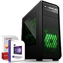Gaming PC / Multimedia COMPUTER inkl. Windows 10 Pro 64-Bit! - AMD Quad-Core A10-7850K 4x 4.0 GHz - AMD Radeon HD R7000 8xCore APU - 16GB DDR3 RAM - 256GB SSD - 24-fach DVD Brenner - USB 3.0 - DVI - HDMI - VGA - Gamer PC mit 3 Jahren Garantie!