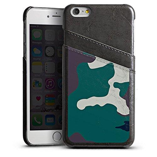Apple iPhone 5 Housse Étui Silicone Coque Protection Camouflage Armée allemande Motif de camouflage Étui en cuir gris