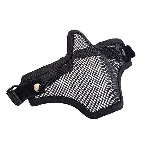 Beito Carbon Steel Streik-Art Airsoft Ineinander Greifen-Schablone Der Hälfte Gesicht Mit Justierbarem Und Elastischem Gurtband