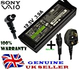 Brand New Genuine Sony Vaio 19.5v 3.9a Laptop Adapter mpatiable Model VGP-AC19V19,VGP-AC19V20 ,VGP-AC19V27,VGP-AC19V28, VCharger CoGP-AC19V33, VGP-AC19V37 + UK Power Cord - 1 Year Warranty - 1 Year Warranty When Sold By Jamuna London Ltd