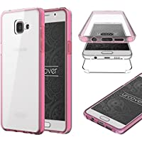 Samsung Galaxy A5 (2016) Housse Urcover [Nouvelle Version] Coque Tactile Samsung Galaxy A5 (2016) [Etui 360 Degrés] TPU Rose Transparente Case Écran Integrale Tout Round
