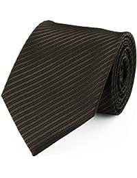 Cravate faux uni chocolat