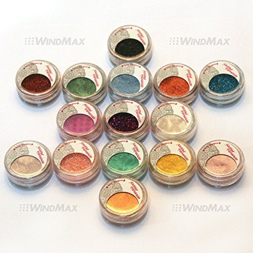 Beauty 15 Cold Metallic Colorful Glitter Shimmer Pearl Loose Eyeshadow Pigments Mineral Eye Shadow Dust Pot Powders Makeup Party Beauty Salon Cosmetic Kit #E * US SELLER * by WindMax (Eye Dust Mineral)