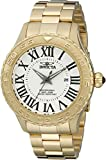 Invicta 14379 47mm Gold Steel Bracelet & Case flame fusion Men's Watch