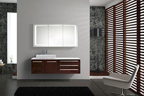 LED Spiegelschrank London 100 cm, weiß - 6