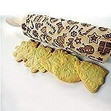 Soulitem Rouleau à pâtisserie pour biscuits en pain d'épices, Bois dense, Small