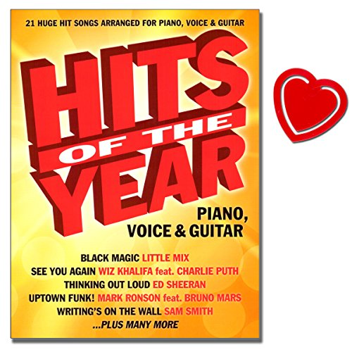 Me Church Take Lyrics To (Hits Of The Year 2015 - Songbook - 21 Huge hit songs arranged for Piano, Voice and Guitar - Black Magic, See You Again, Thinking Out Loud ... Noten mit bunter herzförmiger Notenklammer)