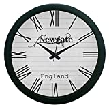 MeSleep Newgate Vintage Wall Clock White 3D Effect Stylish Wall Hanging Home Decorative DIY Wall Clocks