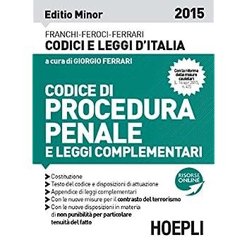 Codice Di Procedura Penale 2015. Ediz. Minore
