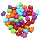 #4: BEADSNFASHION Silk Thread Jewellery Making Multicolor Acrylic Oval Big Hole Pony Beads 10x8mm, Pack Of 100gm