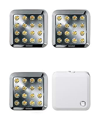 osram qod led unterbauleuchte set 3 x 3 5 watt energieeffizientes led panel mit trafo 7 cm. Black Bedroom Furniture Sets. Home Design Ideas