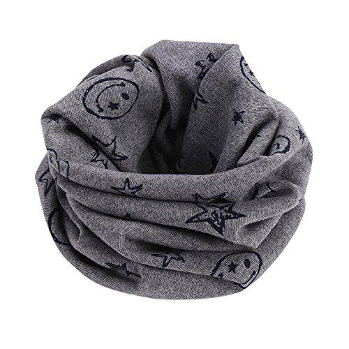 FEITONG Otoño invierno Niños niñas collar del bebé bufanda de algodón Cuello redondo Bufandas (B)